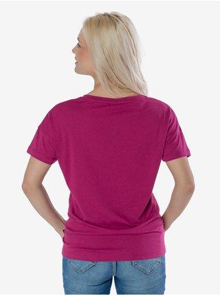 Tričká s krátkym rukávom pre ženy SAM 73 - tmavoružová