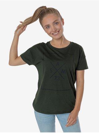 Tričká s krátkym rukávom pre ženy SAM 73 - tmavozelená