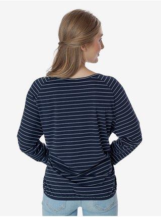 Tmavě modré dámské pruhované tričko SAM 73