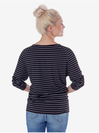 Černé dámské pruhované tričko SAM 73