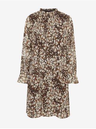 Šaty na denné nosenie pre ženy ICHI - hnedá, svetlohnedá