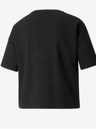 Čierne dámske tričko s potlačou Puma Cyber Graphic Tee