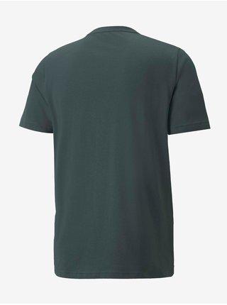 Tmavozelené pánske tričko Puma ESS Small Logo Tee