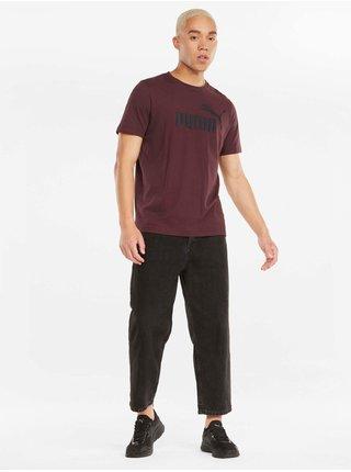 Vínové pánske tričko Puma ESS Logo Tee