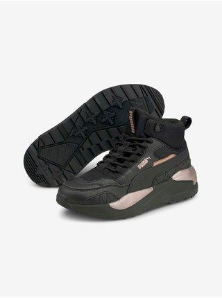 Čierne dámske semišové topánky Puma X-Ray 2 Square Mid L WTR
