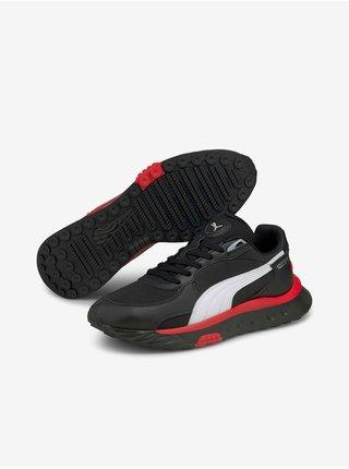 Červeno-čierne pánske topánky Puma Wild Rider Route