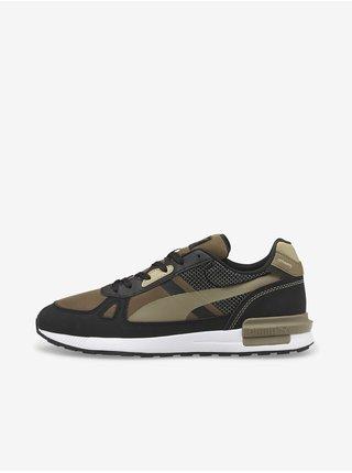 Čierno-kaki pánske topánky Puma Graviton Pro Tech