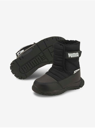 Černé klučíčí sněhule Puma Nieve Boot WTR AC Inf