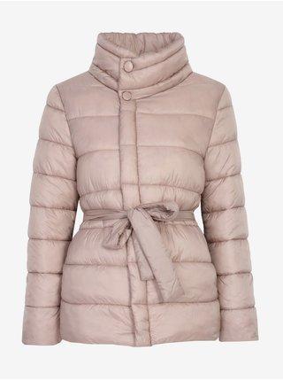 Béžová dámská prošívaná zimní bunda TOP SECRET