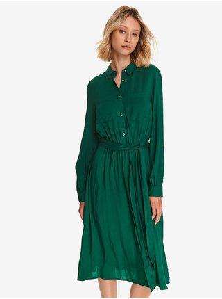 Zelené dámské košilové šaty TOP SECRET