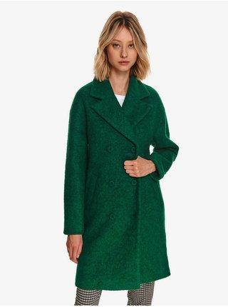 Zelený dámský vlněný kabát TOP SECRET