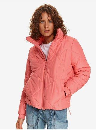 Růžová dámská prošívaná lehká bunda TOP SECRET