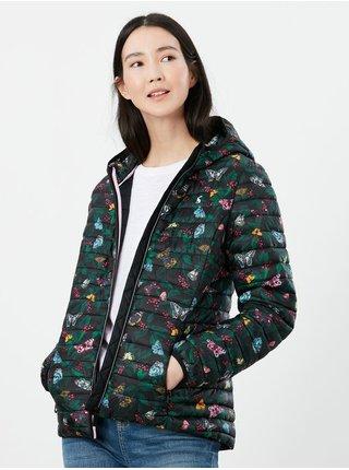 Černá dámská květovaná prošívaná bunda s kapucí Tom Joule
