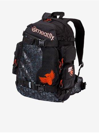 Černý pánský vzorovaný batoh Meatfly Raiden