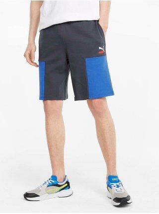 Modro-šedé pánské kraťasy Puma Clsx Shorts TR