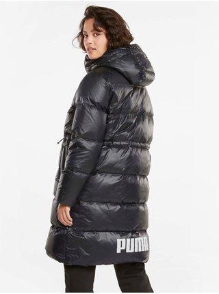 Černý dámský prošívaný lesklý kabát Puma Adjustable Down Coat