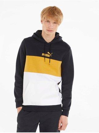 Mikiny s kapucou pre mužov Puma - čierna, biela, žltá