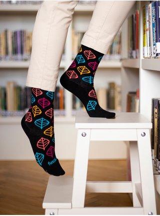 Černé dámské vzorované ponožky Fusakle Lípojeseň