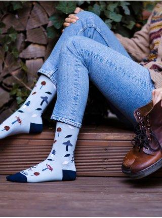 Modré dámské ponožky s motivem Fusakle Lesozběr