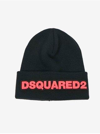 Čiapky, šály, rukavice pre mužov DSQUARED2 - čierna