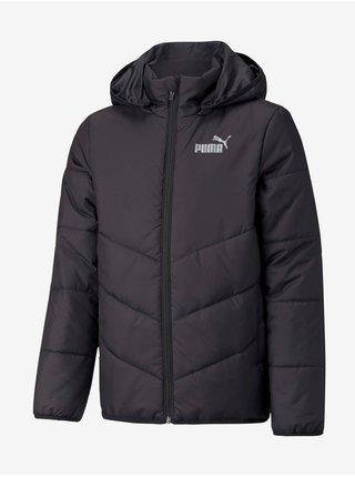 Čierna dievčenská prešívaná bunda Puma Ess Padded HD Jacket B