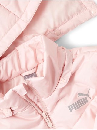 Svetloružová dievčenská prešívaná bunda Puma Ess Padded HD Jacket G