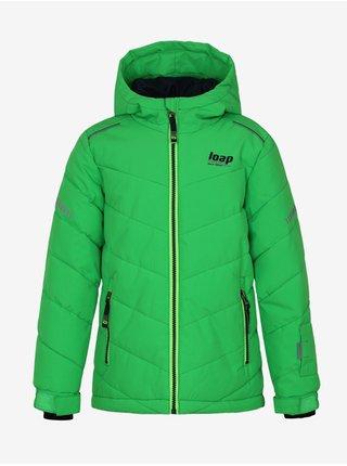 Zelená chlapčenská zimná bunda s kapucou LOAP