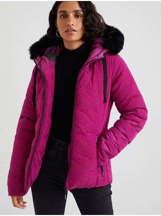 Tmavě růžová dámská zimní bunda Desigual Snow