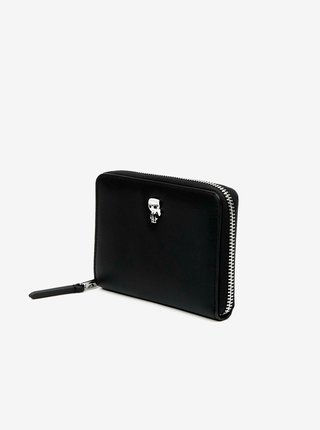 Čierna kožená peňaženka KARL LAGERFELD