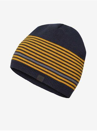 Žluto-modrá pánská pruhovaná čepice Hannah