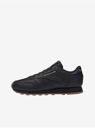 Čierne dámske kožené tenisky Reebok Classic leather