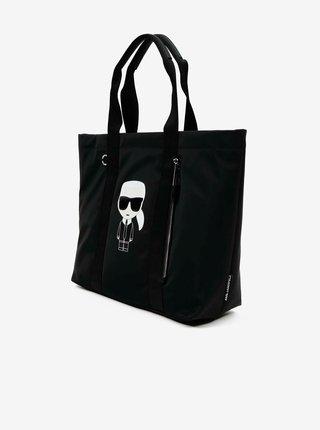 Čierny shopper KARL LAGERFELD