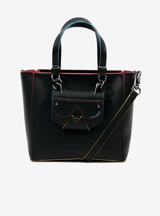Čierna kožená kabelka KARL LAGERFELD