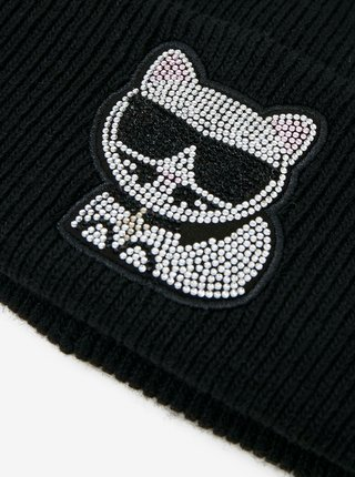 Čierna čiapka KARL LAGERFELD