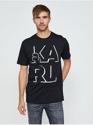 Čierne tričko s potlačou KARL LAGERFELD