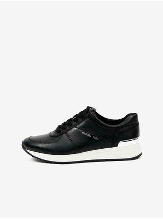 Černé dámské kožené boty Michael Kors Allie Trainer