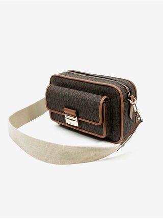Hnedá vzorovaná kabelka Michael Kors Md Pocket Camera Xbody