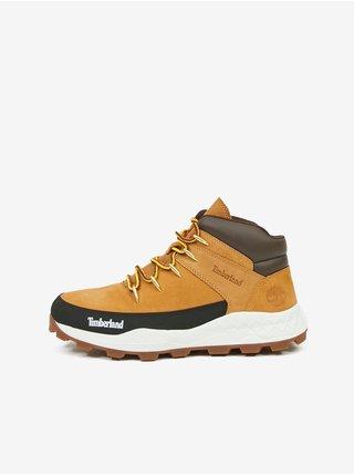 Světle hnědé pánské kotníkové kožené boty Timberland Brooklyn Euro Sprint