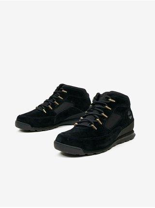 Čierne pánske kožené členkové topánky Timberland Euro Rock Heritage L/F Basic
