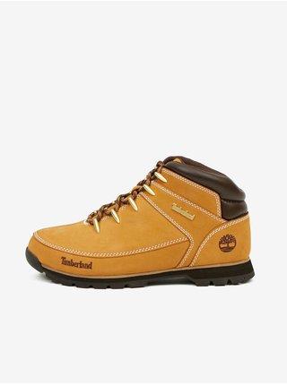 Světle hnědé pánské kotníkové kožené boty Timberland Euro Sprint Hiker