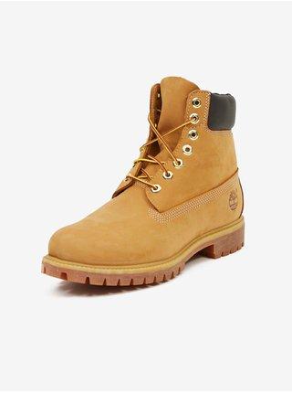 Světle hnědé pánské kotníkové kožené boty Timberland 6 Inch Premium Boot