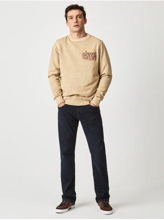 Mikiny bez kapuce pre mužov Pepe Jeans - béžová