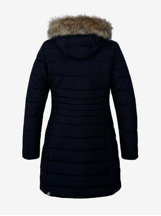 Černý dámský prošívaný kabát Hannah