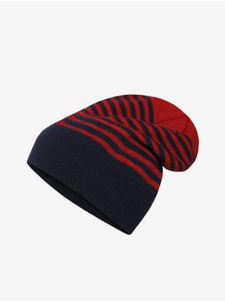 Červeno-modrá pánská pruhovaná čepice Hannah
