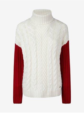 Roláky pre ženy Pepe Jeans - krémová, červená