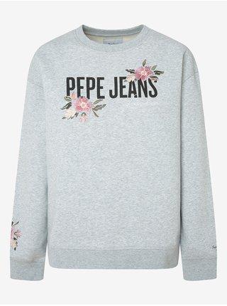 Mikiny pre ženy Pepe Jeans - svetlosivá