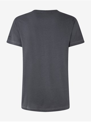 Tmavě šedé dámské tričko s ozdobnými detaily Pepe Jeans Debo