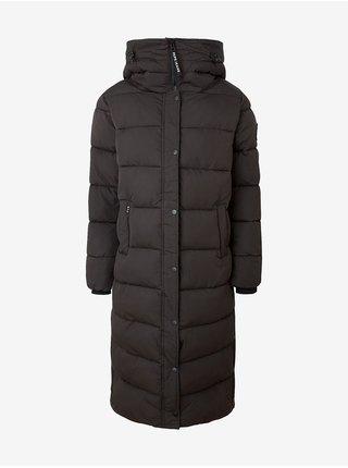Černá dámská prošívaná bunda s kapucí Pepe Jeans Norah