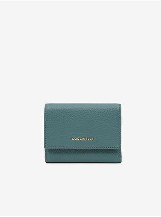 Modrá kožená peněženka Coccinelle Metallic Soft
