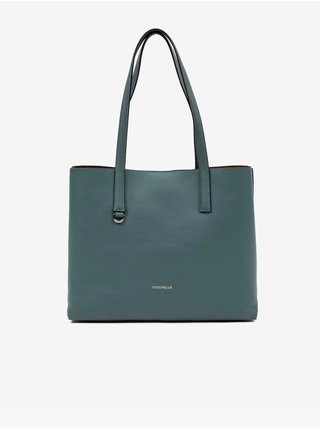 Modrý kožený shopper Coccinelle Matinee